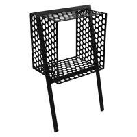 MINDFULL - wall rack - metal - black - S - 40x28xh68,5 cm