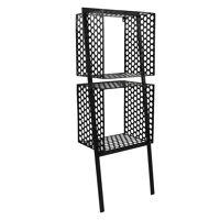 MINDFULL - wall rack - metal - black - M - 40x28xh108,5 cm