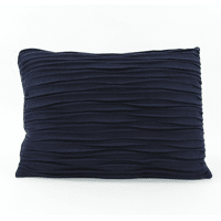 AKI - deco cushion - recycled wool - navy blue - 50x70 cm