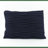 AKI - coussin deco - laine recyclé - bleu marine - 50x70 cm