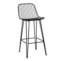 OMBRA  - bar chair - metal - L 40 x W 42 x H 90 cm - black