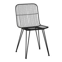 OMBRA  - chaise - métal - L 54 x W 43 x H 83 cm - noir