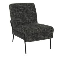 LALALAND - relax chair - fabric / metal - L 51 x W 75 x H 74 cm - black