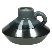 RETROCHIC-Vase-Ceramic-Black- dia 17.5 x 12 cm