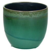 AGATE-Keramische vaas-Groen-S- dia 10 x 9 cm