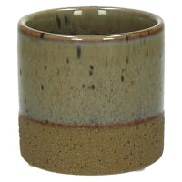 SUNA - flower pot - composite of sandstone - DIA 7,5 x H 7,2 cm - linen