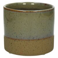 SUNA - flower pot - composite of sandstone - DIA 11 x H 10 cm - linen