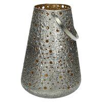 SHINY - lantaarn - metaal - DIA 24 x H 32 cm