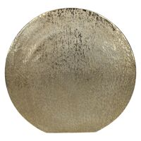 MOON-Vase-Aluminium-Brushed gold-M- 38 x 39 cm
