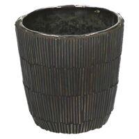 CARLITA - vase - verre - DIA 9 x H 9 cm - brun