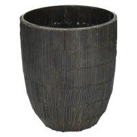 CARLITA - vase - verre - DIA 12 x H 15 cm - brun