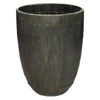 CARLITA - vase - verre - DIA 18 x H 24 cm - brun