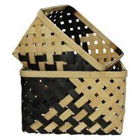 KIYOSU - set/2 baskets - bamboo - L 27/32 x W 27/32 x H 17/19 cm
