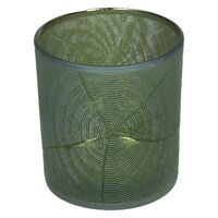 KIZAI - tea light holder - glass - DIA 7,3 x H 8 cm - green
