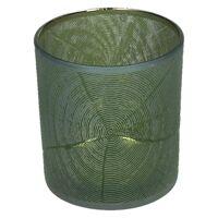 KIZAI - windlicht - glas - DIA 7,3 x H 8 cm - groen