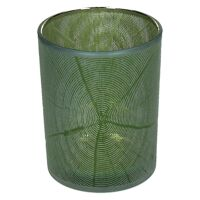 KIZAI - hurricane - glass - DIA 10 x H 12,5 cm - green