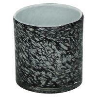 LORCA - theelichthouder - glas - DIA 10 x H 10 cm - grijs