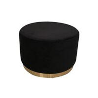 POMPADOUR  - poef - velvet - DIA 55 x H 34 cm - zwart
