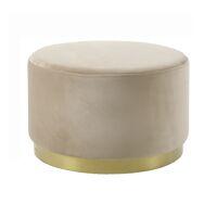 POMPADOUR  - poef - velvet - DIA 55 x H 34 cm - gebroken wit