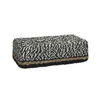 USHUAIA - tissue box - seagrass/paper - black&white - 27x15x9cm