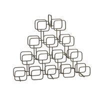 ROWN  - wine rack - iron - L 85 x W 16 x H 70 cm - gold