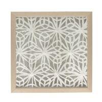 FLORO - muur decoratie bloem - aluminium - L 40 x W 4 x H 40 cm - naturel