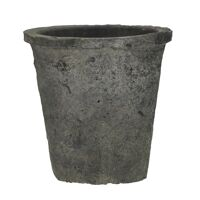 DAMOSIS - flower pot with moss - earthenware - DIA 20 x H 18,5 cm - anthracite