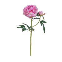 PEONY - pioen - kunststof - H 52 cm - roze