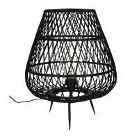 TAO - staanlamp - bamboe - DIA 38 x H 45 cm - zwart