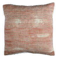 TOUDOU - cushion - cotton / lurex - L 45 x W 45 cm - brique