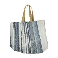 SEA - wood bag - denim - L 40 x W 40 x H 40 cm - mix of colours