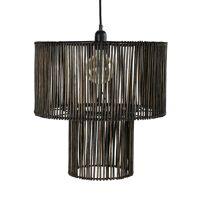 CARMEN - hanging lamp - rattan - DIA 42 x H 43 cm - black