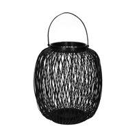 ZIGGY - lantaarn - bamboe - DIA 36 x H 40 cm - zwart