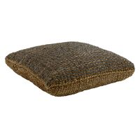 SEGIRA - floor cushion - seagrass - L 80 x W 80 x H 20 cm - black