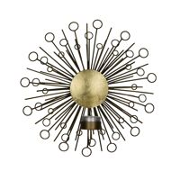 MEMOIRE - wall t-light holder - metal - DIA 27,5 x W 11 cm - brass