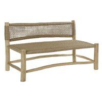 TREILLAGE - 2-seater - teak wood / virofiber - L 125 x W 62 x H 71 cm - natural