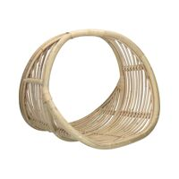 SAM - magazine basket - rattan - L 45 x W 43 x H 43 cm - natural