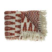 ZANZIA - throw - cotton / polyester - L 170 x W 130 cm - orange