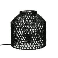 KNUPE - table lamp - iron / paper - DIA 29 x H 28 cm - black