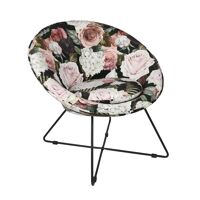 GARBO - relax chair - velvet / metal - L 75 x W 67 x H 73 cm - multicolor