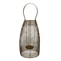 TIKARA - lantern - metal - DIA 28 x H 52 cm - gold