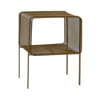 TIKARA - nightstand - metal - L 41,5 x W 35 x H 56 cm - gold