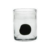 DOPI - beker - glas - DIA 8 x H 10 cm - donkergroen