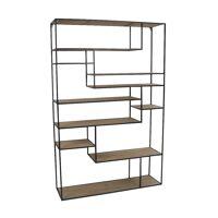 ESSENTIAL - etagère - fer / bois de sapin - L 110 x W 30 x H 170 cm