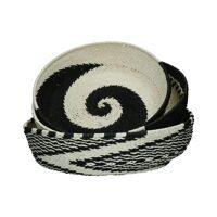 HOLI - set/3 baskets - paper - DIA 41/46/49 x H 11/13/14 cm - black/white