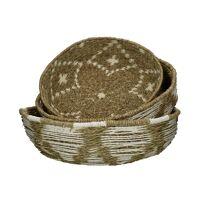 NEHRU - set/3 baskets - paper - DIA 41/46/49 x H 11/14/15 cm - green