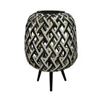 SIEBRA - lamp - bamboe - DIA 35 x H 50 cm ( led 2x1,5 volt )
