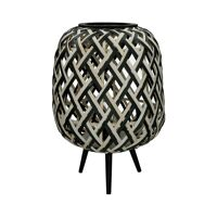 SIEBRA - lampe - bambou - DIA 35 x H 50 cm ( led 2x1,5 volt )