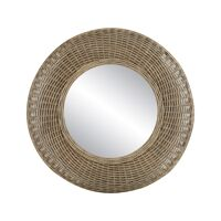 WICKAR - mirror - rattan / mirror glass - DIA 80 x H 9 cm