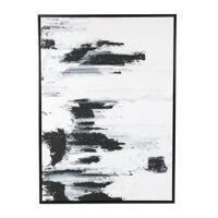 MIST - canvas with frame - linen - L 104 x W 4 x H 144 cm - black/white